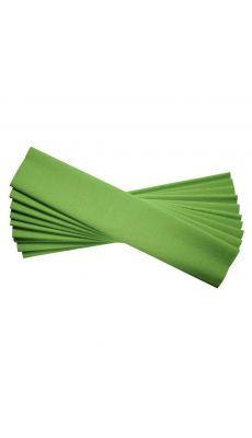 N.C - 15893 - Papier crepon ordinaire 200x50 vert pomme - Paquet de 10