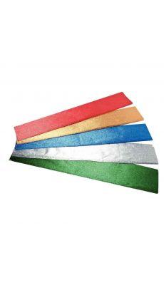MAILDOR - 111199MAJUSC - Papier metal crepe 250x50 assorti - Paquet de 5