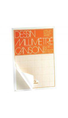 Canson - 67 109 - Papier dessin millimétré A3 bistre - Bloc de 50
