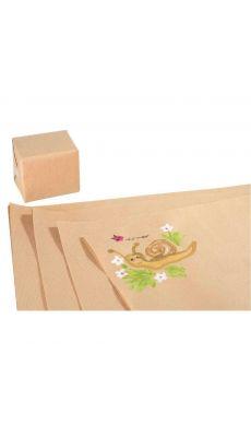 MAILDOR -895771CMAJUSC -  Papier kraft brun 64g 0,70x1m - Paquet de 25