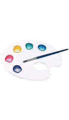 Palette plastique ovale 1 trou