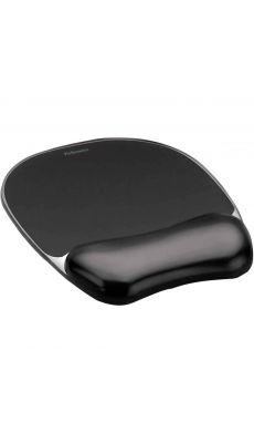 Fellowes - 9112101 - Tapis de souris avec repose poignet Crystal gel - Noir