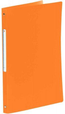 Classeur en polypropylène 5/10ème - 4 anneaux ronds diamètre 16mm - format A4  - Dos 20 mm - Couverture souple orange
