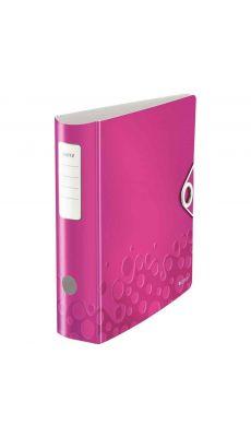 LEITZ - 1106-00-23 - Classeur à levier en polypropylène  Polyfoam dos 8 cm format A4+ coloris rose