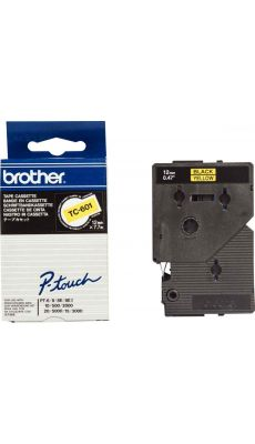 TC-601 - Recharge Brother noir/jaune 12mm