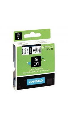 Dymo - 45013 - Ruban cassette D1 - 12mm x 7m - Noir et Blanc