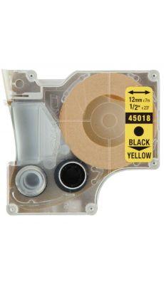Dymo - 45018 - Ruban cassette - 12mm x 7m - Noir et Jaune
