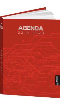 Bouchut grandremy - 011982 - Agenda scolaire de poche techno bordeaux