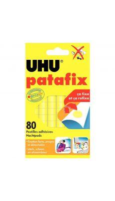 Pastilles adhésives Patafix jaune 6x14cm - Blister de 80