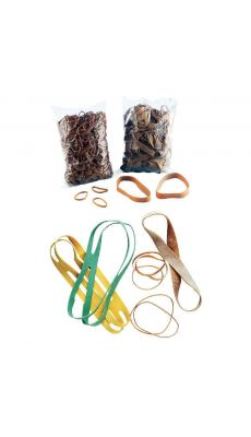 SAFETOOL - Bracelet élastique en caoutchouc blond 90x03mm - Paquet de 1kg
