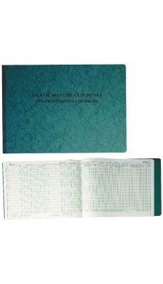 Exacompta - 9620E - Registre piqure - Recette depense profession liberale - 270x380mm - 80 pages
