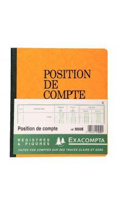 Exacompta - 950E - Registre piqure - Position de compte - 210x190mm - 20 pages