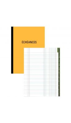 Exacompta - 7660E - Registre piqure - Echeancier - 320x195mm - 72 pages