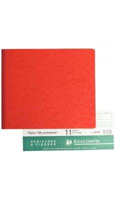 Exacompta - 16110E - Registre piqure - 11 colonnes sur1 page - 270x320mm - 80 pages