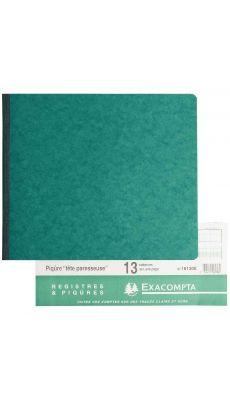 Exacompta - 16130E - Registre piqure - 13 colonnes sur 1 page - 270x320mm - 80 pages