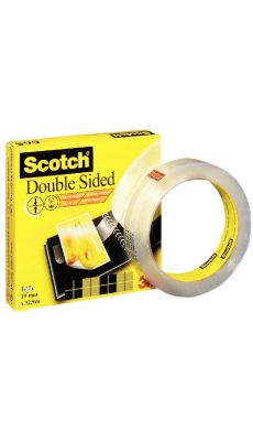SCOTCH - Rouleau scotch double face 19mmx33M