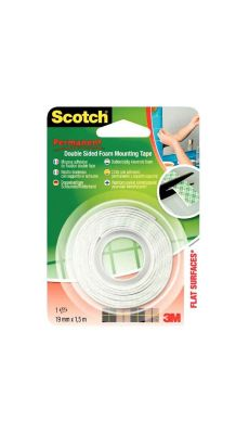 SCOTCH - Rouleau scotch fixation 1,5m 19mm