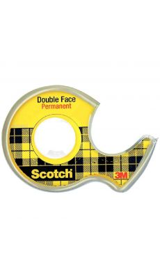 SCOTCH - Rouleau double face 12mmx6m
