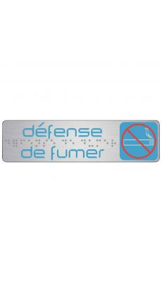 "SAFETOOL - Plaque de signalisation ""defense de fumer"""