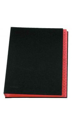 Extendos - 53-25 - Trieur toile alphabétique 25 compartiments - Noir