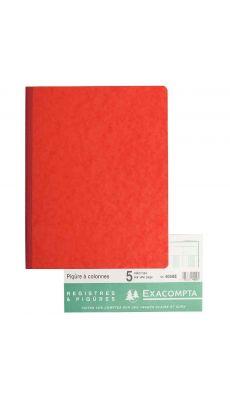 Exacompta - 4050E - Registre piqure - 5 colonnes sur 1 page - 320x250mm - 80 pages