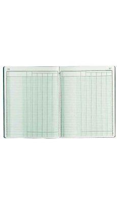 Exacompta - 4060E - Registre piqure - 6 colonnes sur 1 page - 320x250mm - 80 pages
