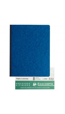 Exacompta - 4080E - Registre piqure - 8 colonnes sur 1 page - 320x250mm - 80 pages
