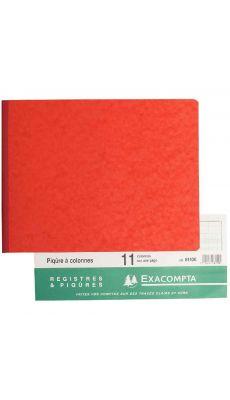 Exacompta - 6110E - Registre piqure - 11 colonnes sur 1 page à l'italienne 250x320mm - 80 pages