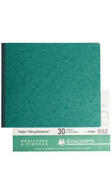 Exacompta - 16300E - Registre piqure - 30 colonnes sur 2 pages - 270x320mm - 80 pages