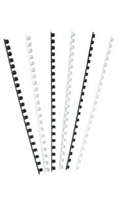 Anneaux pour reliure d8 blanc - boite de 100
