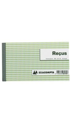 Exacompta - 23170E - Manifold NCR autocopiant - Recus - 105x180mm - 50/2
