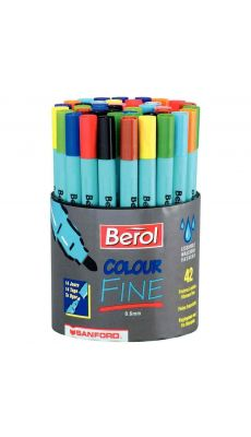 Berol - S0376490 - Feutre colourfine - Pot de 42