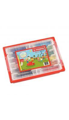 STABILO - Schoolpack de 144 feutres TRIO A-Z pointe fine de 12 couleurs assorties