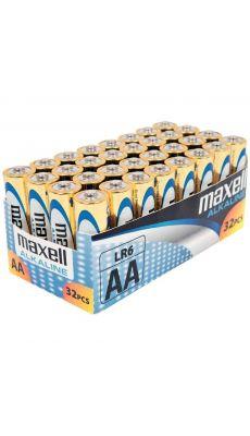 MAXELL - 731311 - alcaline Maxell LR6 AA - Paquet de 32 piles