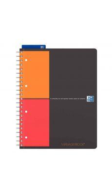OXFORD OFFICE - 126643 - Cahier manager book à reliure intégrale, 160 pages perforées détachables 23 x 29,7, réglure projet
