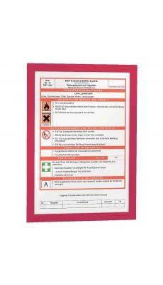 Durable - 4872 03 - Cadre affichage A4 adhésif repositionnable avec contour magnétique rouge - Sachet de 2