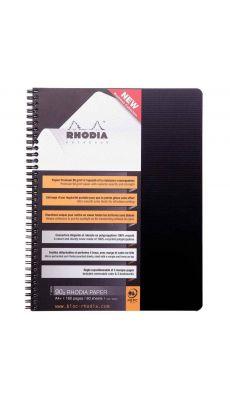 RHODIA - Cahier Note book Polypropylene à reliure intégrale, 160 pages, format A4+ (22.5 x 29.7 cm), 5x5