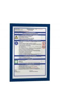 Durable - 4872 07 - Cadre affichage A4 adhésif repositionnable avec contour magnétique bleu - Sachet de 2