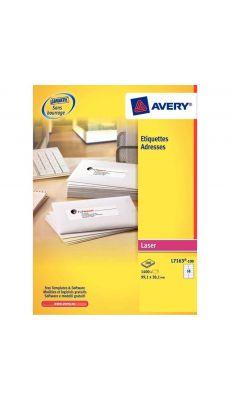 Avery - L7164-100 - Etiquettes laser 63.5x72mm - Paquet de 1200