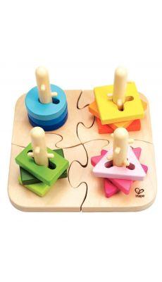 Puzzle à boutons créatif, en bois