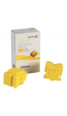 Boite de 2 bâtonnets d'encre solide Xerox 108R00933 Jaune