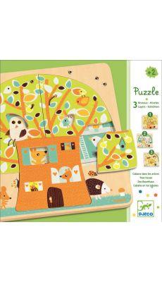 """Puzzle 3 niveaux """"La cabane dans les arbres"""""""