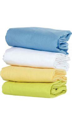Drap sac de couchage 120 x 60 Coton Bleu