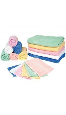 Drap de bain 70 x 140 qualité supérieure rose - Lot de 3