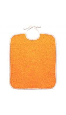 Lot de 10 bavoirs 33 x 40 à lacette 340 grammes orange.  Qualité éponge. Lavable à 60°