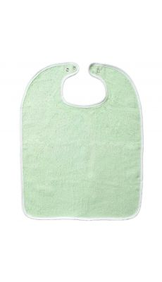 Lot de 10 bavoirs 37 x 50 à pression 340 grammes vert.  Qualité éponge. Lavable à 60°
