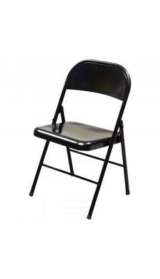 Chaise pliante Boston métal noire