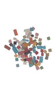Pot de 1kg de mini mosaïques antiques, 5 x 5 mm. 12 couleurs assorties