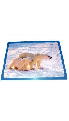 """Puzzles soft de 15 pièces """"Les animaux et leur bébé"""" - lot de 3"""