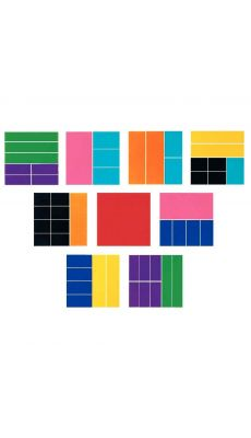 51 rectangles fractions (largeur 10cm) en PVC